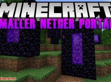 Mod de portales abisales más pequeños para el logotipo de Minecraft