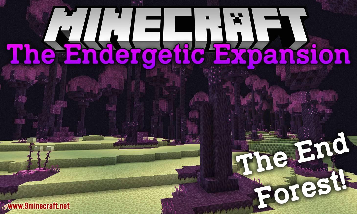 El mod de Expansión Endergetic para el logotipo de Minecraft