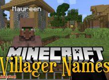 Mod de nombres de aldeanos para el logotipo de Minecraft