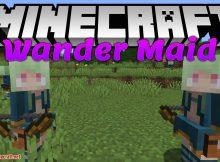 Wander Maid mod para el logotipo de minecraft