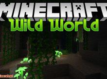 Wild World mod para el logotipo de Minecraft