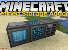 Modificación de complementos de almacenamiento refinado para el logotipo de Minecraft